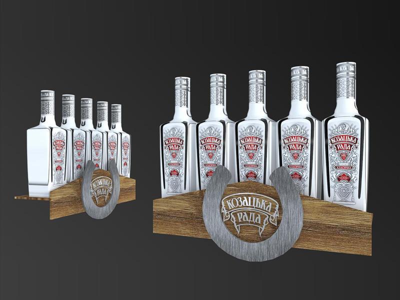 эксклюзивный шелфтокер для бутылок казацкая рада