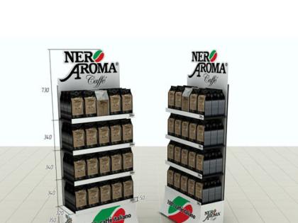 Изготовление рекламной стойки Nero Aroma