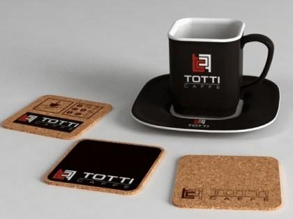 Изготовление и дизайн костера для компании Totti
