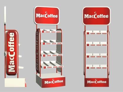 Изготовление стойки для компании MacCoffee