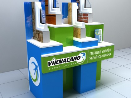Разработка рекламного стенда для компании Viknalend