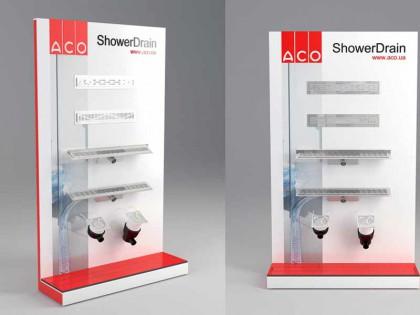 Разработка и изготовление стенда сливных конструкций для компании ACO