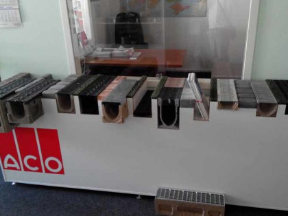 Дизайн и производство стенда для образцов продукции АСО