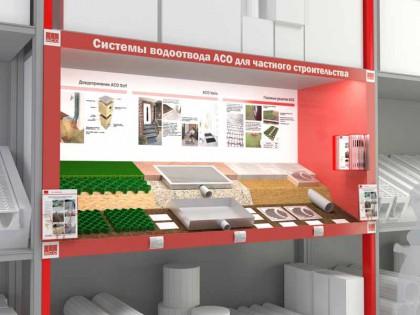 Разработка и производство стенда с монтажом в эпицентре для компании АСО
